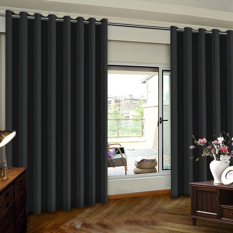 Wide Thermal Blackout Patio Door Curtains